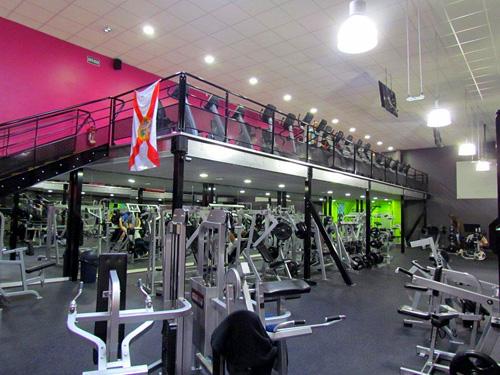 Mezzanine ERP pour salle de gym