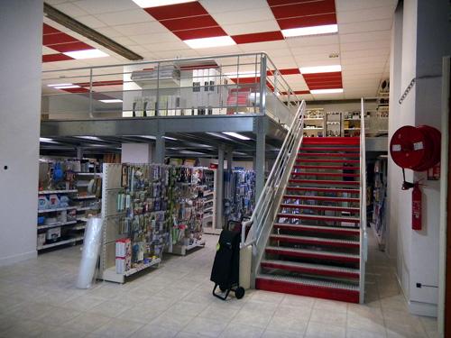 Mezzanine ERP dans un magasin