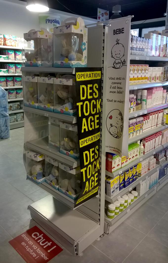 Mise en avant de produits de la pharmacie