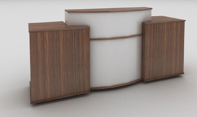Mobilier d'agencement en bois : accueil