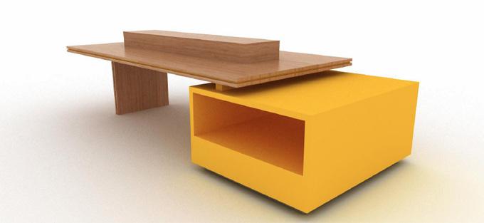 Mobilier d'agencement en bois : présentoir design