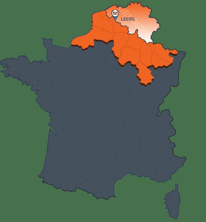 Carte de France agence Nord