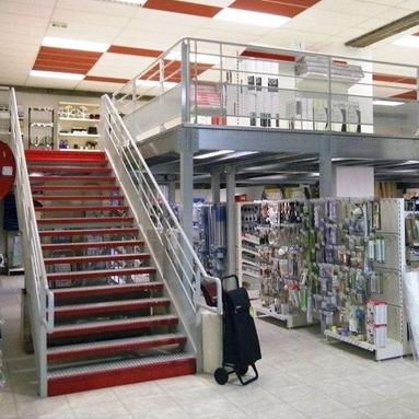 Doublez la surface de votre magasin en installant une mezzanine ERP
