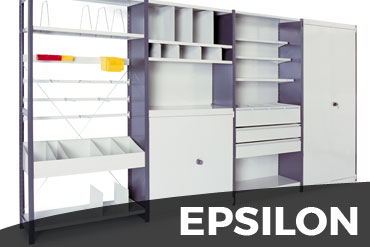 rayonnage léger de bureaux Epsilon