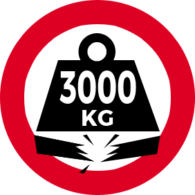 Maximum 3000 kg