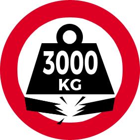 maximum 3000 kg